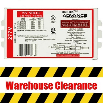 Advance Dimming Ballast Clearance
