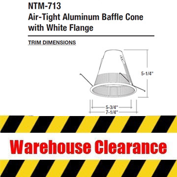 Nora NTM-713WAL 6″ Aluminum Baffle Cone Thumbnail