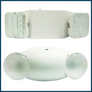 Two Head Emergency Light