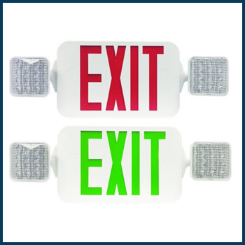 Exit Emergency Combo Light