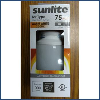 "Sunlite 05330 ""Jar Type"" CFL Lamp Thumbnail"