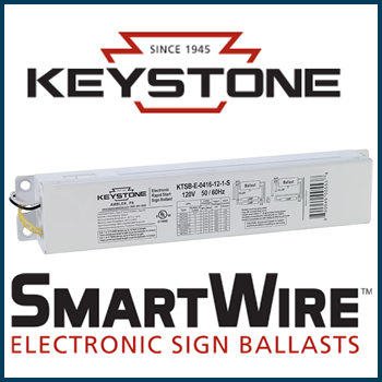 Keystone Smart Wire Ballasts KTSB-E-0416-12-UV-S